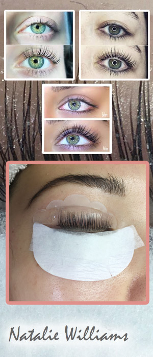 Professional Lash Lift and Tint, Juan Les Pins by qualified independent beautician Natalie Williams. Beauty sessions in the comfort of your own home