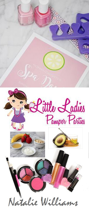 Professional Children's Pamper Parties, Juan Les Pins by qualified independent beautician Natalie Williams. Beauty sessions in the comfort of your own home