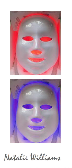 Professional LED Light Therapy, Juan Les Pins by qualified independent beautician Natalie Williams. Beauty sessions in the comfort of your own home